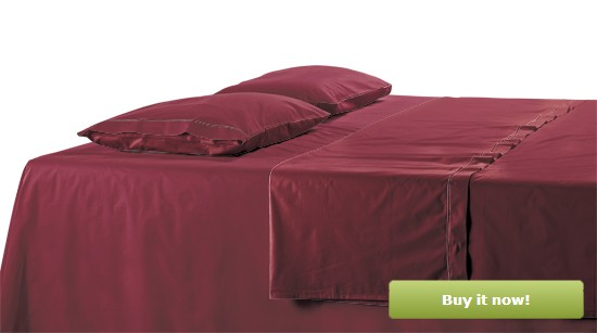 Maroon Bedding