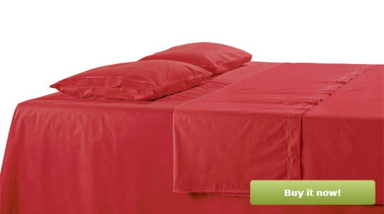 Deep Red Bedding
