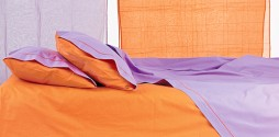 orange fuchsia bed sheets