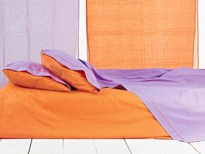 orange fuchsia bed sheets