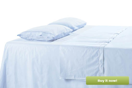 Light Blue Sateen Sheets