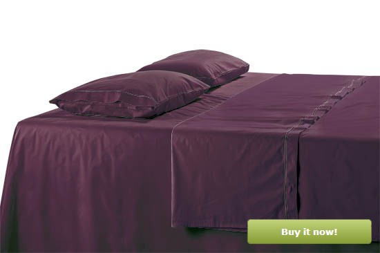 Purple Sateen Sheets